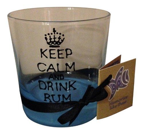 Memories-Like-These UK Verre avec inscription peinte à la main « Keep Calm And Drink Rum »