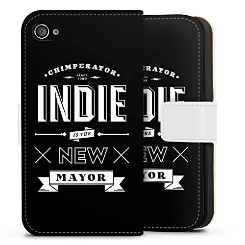 Apple iPhone X Silikon Hülle Case Schutzhülle Chimperator Fanartikel Merchandise Indie is the new Mayor Sideflip Tasche weiß