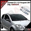 Chrom Türgriffe Blenden2tlg aus Edelstahl für Citroen C2 / C3 Peugeot 307