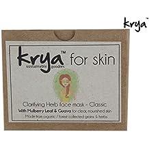 Krya Classic herbal facial mask : Oil Balancing, Pore shrinking & blemish correcting for oily skin . Made with rich Ayurvedic, skin healing herbs – All Natural 100 gm