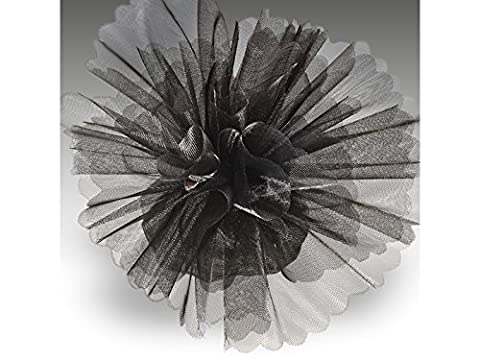 Organza Tulle Circles Crystal Standard Black (Pack of 50)