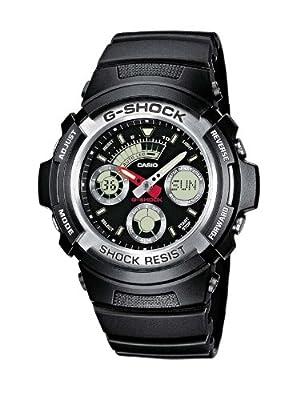 Reloj Casio G-SHOCK - digital de caballero de cuarzo con correa de resina negra (cronómetro, alarma, luz) - sumergible a 200 metros de Casio