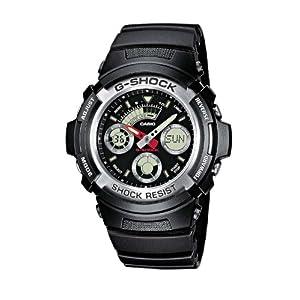 Casio G-SHOCK Reloj Analógico-Digital, 20 BAR, Negro, para Hombre, AW-590-1AER