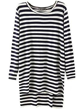 Kerlana Camicia Donna Elegante Lungo Manica Lunga Camicetta Girocollo Camicie Puro Colore Maglietta Moda T-Shirt...