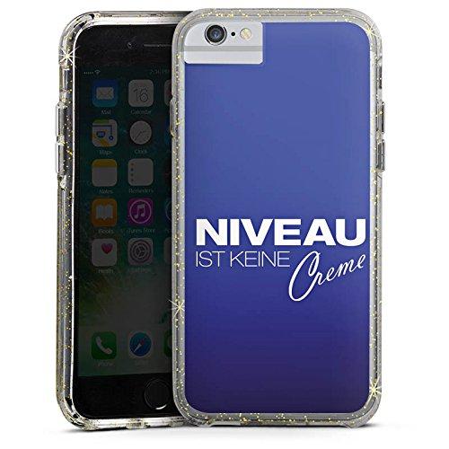 Apple iPhone 8 Bumper Hülle Bumper Case Glitzer Hülle Level Niveau Creme Bumper Case Glitzer gold