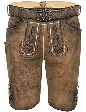 Michaelax-Fashion-Trade Spieth & Wensky - Herren Trachten Lederhose mit Gürtel, Ferry (290675-0413)