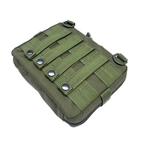 Gazechimp Molle Beutel Pouch Rucksack Zusätzlicher Packsack Stausack Sportrucksack Zusatztaschen Grün