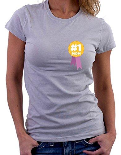 t-shirt festa della mamma -Mamma numero uno, mom number one - by tshirteria grigio