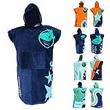 Accappatoio Asciugamano per Bambini - Telo Bagno per Ragazzi e Ragazze 120-170cm - Devilfish Design (Orange)
