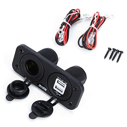 Preisvergleich Produktbild Rupse Auto Zigarettenanzünder, Wasserdicht USB Ladegerät Einbau Steckdose Adapter für Kfz,  LKW,  Auto,  Boot