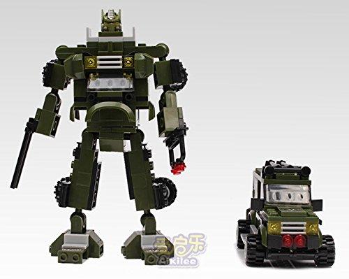 Montage Montage modèles enfants pédagogique jouet robot avec transformateurs dans un pierre de Construction Jouet crit