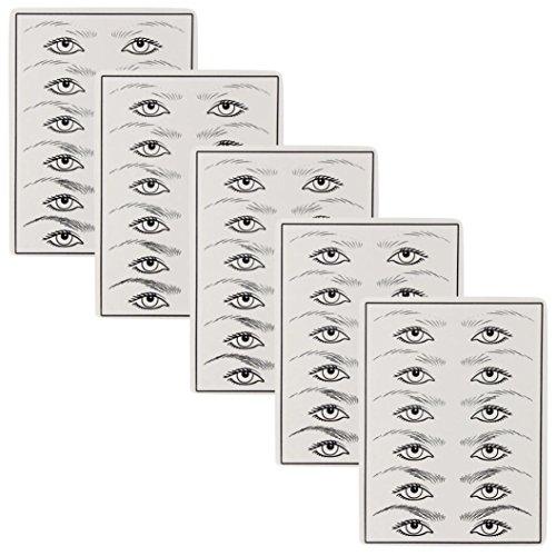 Practise Peau, Clode® Nouvelle Permanent Cosmétique Eye sourcils Maquillage Tatouage Practise d'entraînement Peau de feuilles