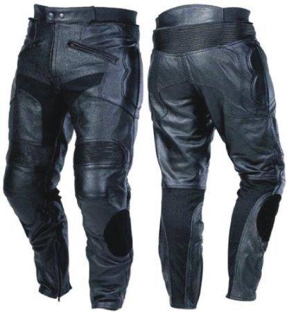 Australian Bikers Gear–CE blindado piel moto jeans con deslizadores cintura UK 44EU54