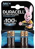 Duracell Ultra Power Typ AAA Alkaline Batterien, 4er Pack