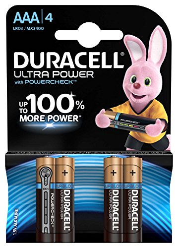 Duracell Ultra Power - Pilas AAA / Paquete de 4 pilas