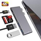 MOKAI START Hub USB C Adaptateur pour MacBook Pro 2019/2018/2017/2016, MacBook Air...