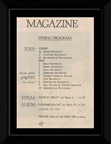 Magazin-Programm 1979 Spring UK Tour, gerahmt, mit Wandaufhängung, 36,8 x 27,1 cm (Thyself Magazine No)