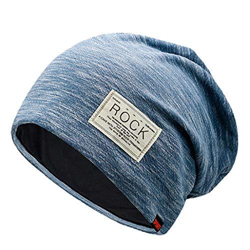 ics | Cozy fit Beanie, Mütze | Damen, Herren | mit weichem Teddyfell gefüttert | für warme Ohren | Relax fit(B Blau) ()