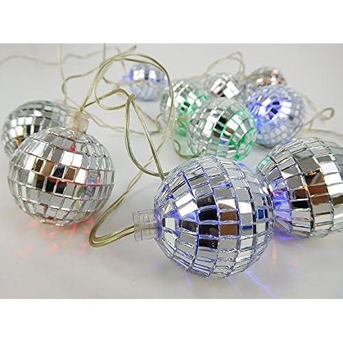 Christmas ConceptsR 10 Multi Colour LED Disco Mirror Ball Lights