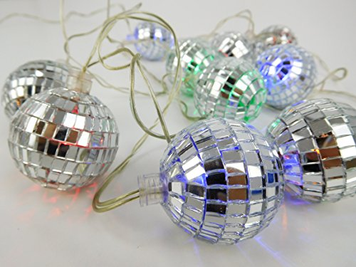 piegel-Ball-Lights - 2 Meter Länge - netzbetriebene (Disco-ball-christmas Lights)