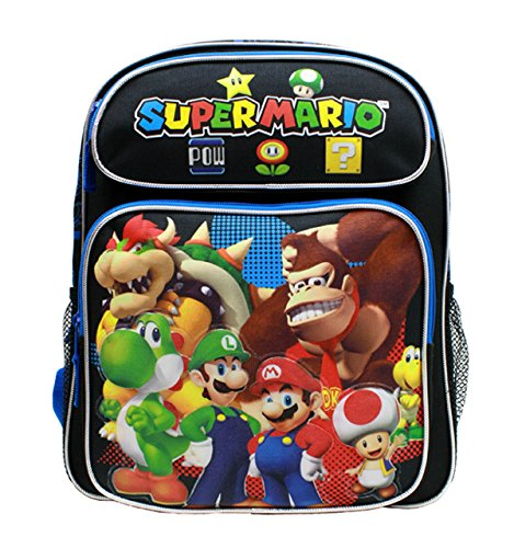 medium-backpack-nintendo-super-mario-group-black-14-school-bag-new-sd28257-by-super-mario-brothers