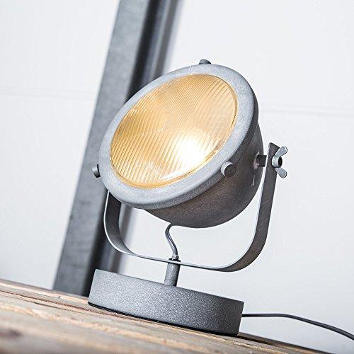 Vintage lámpara mesa Industrial envejecido