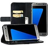 EasyAcc Samsung Galaxy S7 Edge Hülle Lederhülle Tasche Handyhülle mit Standfunktion Card Holder ...