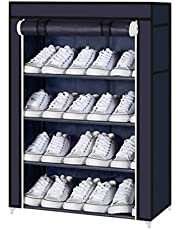PAffy Steel Portable Multi Utility Shoe Rack, 4 Shelf, Multi-Color