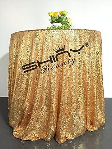 shinybeauty 96en nappe ronde à gâteau Sweetheart tablesequin Doré à paillettes Overlay mariage Bling cas Decor Sparkle Party de draps