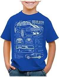 style3 GT500 Dessin Bleu T-Shirt pour enfants T-Shirt