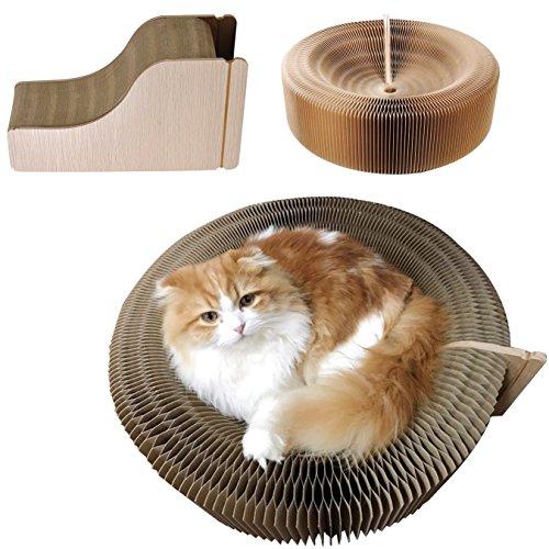 Kratzbett Kratzmöbel aus Pappe Kratzspielzeug Kratzbrett Katzen Spielzeug