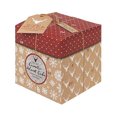 Coffret Cadeau cosmétique Cube Kubus Beauty Calendrier de l'Avent pour Femmes avec Produits cosmétiques et ustensiles de qualité
