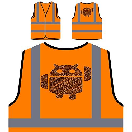 Elektronische Tier-Neuheit lustige Kunst Personalisierte High Visibility Orange Sicherheitsjacke Weste c755vo