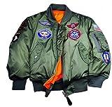 Alpha Industries Youth US Kinder Piloten Jacke, oliv, Größe 164