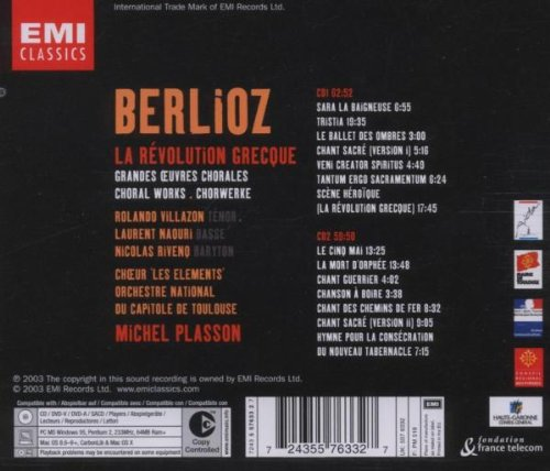 Berlioz - La Révolution gréque (Grandes oeuvres chorales) / Villazon · Naouri · Rivenq · Capitole de Toulouse · Plasson