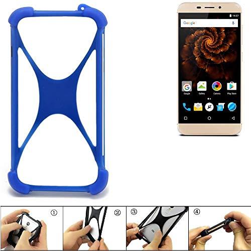 K-S-Trade Handyhülle Allview X4 Soul Mini Silikon Schutz Hülle Cover Case Bumper Silikoncase TPU Softcase Schutzhülle Smartphone Stoßschutz, blau (1x)