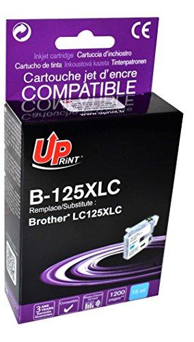 5 x BROTHER - LC125XL - CYAN - Grande Capacité - Economique - QUALITE équivalente à la cartouche d'origine - Garanties et Assistance - Le Meilleur rapport Qualité/Prix - Expédié depuis la FRANCE