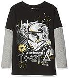 Disney Star Wars Jungen T-Shirt Stormtrooper Tk-421, Schwarz (Black), 7-8 Jahre