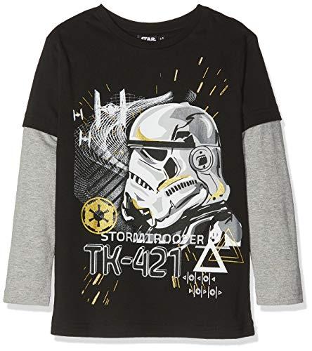 Disney Star Wars Jungen T-Shirt Stormtrooper Tk-421 Schwarz (Black) 6-7 Jahre