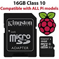 Raspberry Pi_16GB_DS Pi 16 GB Official NOOBS Micro SD Card - Black