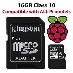 Raspberry Pi_16GB_DS Pi Micro-SD-Speicherkarte, mit Noobs, 16GB, Schwarz