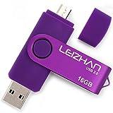 LEIZHAN OTG USB Flash Drive 16GB Purple Universal Smart Phone USB Pen Pendrives Dual Mobile U Disk Computer Memory Card