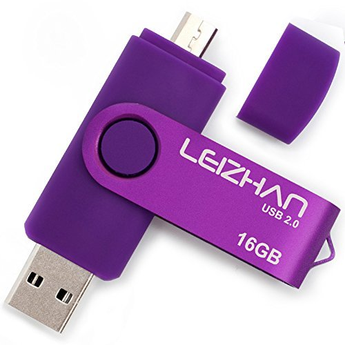 Leizhan otg usb flash drive 16gb purple universal smart phone usb pen pendrives dual mobile u disk computer memory card