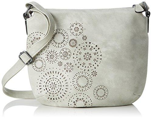 s.Oliver Bags Damen 39.804.94.3334 Umhängetasche, Grau (Grey/Black), 11x24x29 cm (Top Zip-handtasche)