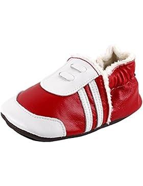 [Patrocinado]LSERVER Zapatos de Cuero Suave Para Bebés Zapatos de Bebé EN Invierno Para Los Niños