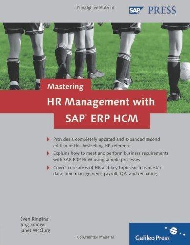 Mastering HR Management with SAP ERP HCM by Sven Ringling (2009-03-28) par Sven Ringling; Jörg Edinger; Janet McClurg