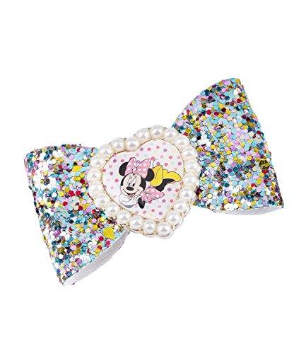 SIX Kids Disney Minnie Mouse Haarspange, Schleife, mit bunten Pailletten, Perlen, Karneval, Kostüm (304-459)