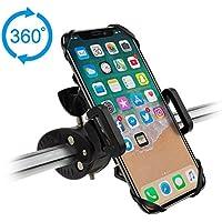 """Hihill Soporte Móvil Bicicleta, Soporte Universal Manillar para de Bicicleta de montaña y Motocicleta, Soporte para iPhone X, 7/7 Plus, 6/6s, Samsung Galaxy y 4.5""""-5.7"""" Smartphones, Negro"""