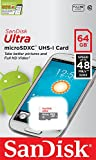 SanDisk Ultra 64 GB microSDXC Class 10 Memory Card up to 48 Mbps - White/Grey