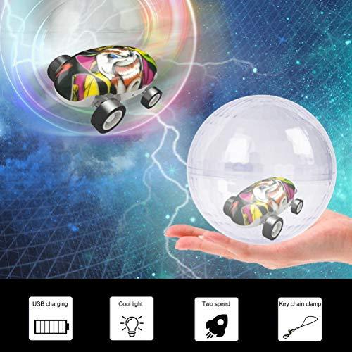 AimdonR Micro Racers Mini Cars Micro Pocket Racer LED Lumineuse dans Le Noir Balles Spinner pour Enfants